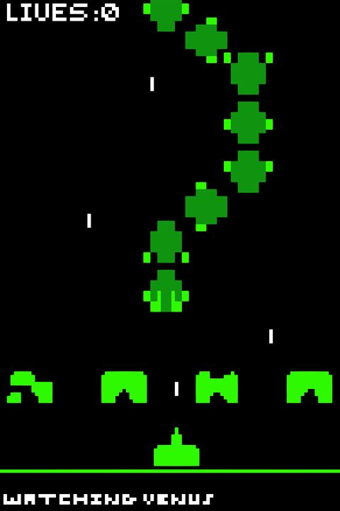 Space Invader Centipede - Watching Venus