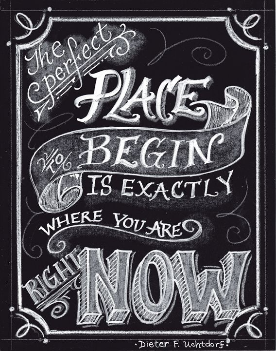 The Perfect Place - Chalkboard Art