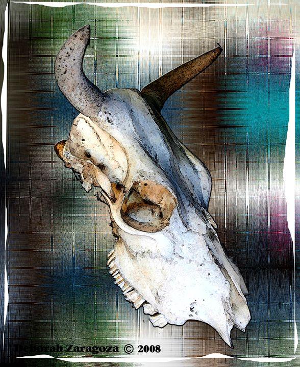 Cow Skull in Color Digital Art - Deborah Zaragoza