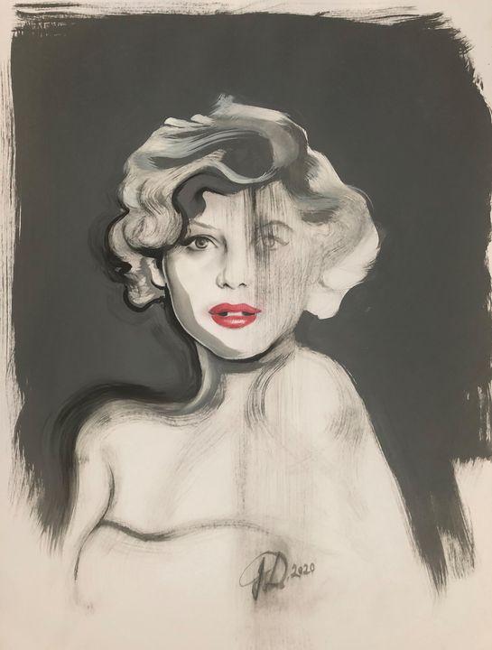 Portrait in gray - Jana