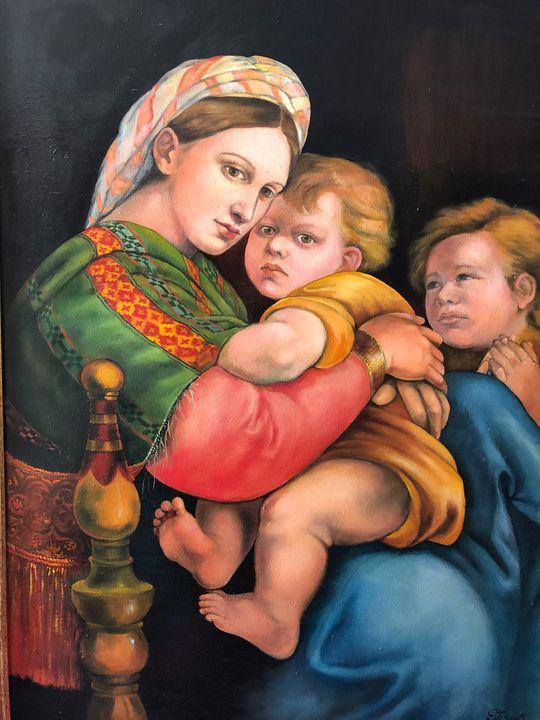 Madonna w child insp. by Raffaelo - Jana