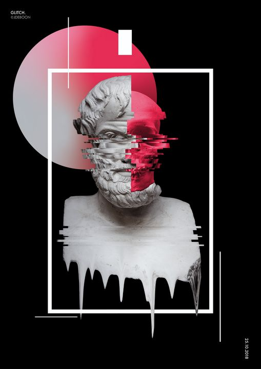 Glitch A3 poster. - JDEBOON