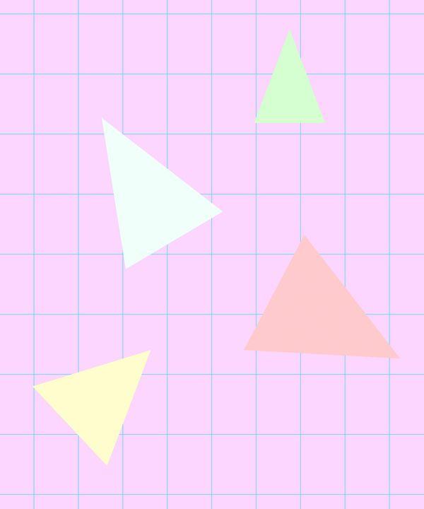90's Triangles - Jess's Art