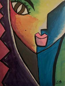 Abstract Mirror Women
