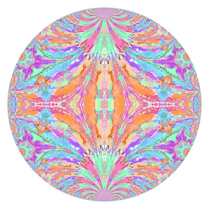 Chipped Paint Mandala - Digital Crafts