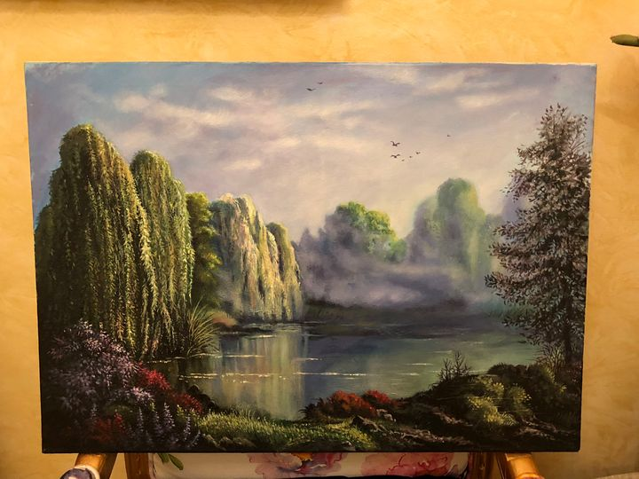 Willows Landscape Painting - Adams