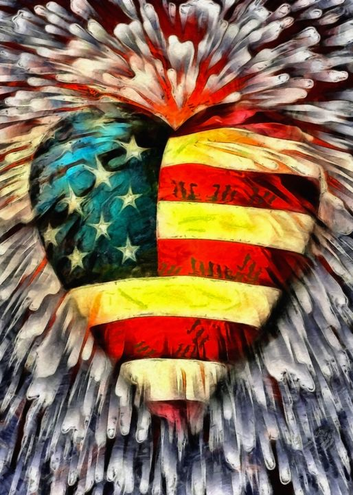 USA Heart - rolffimages