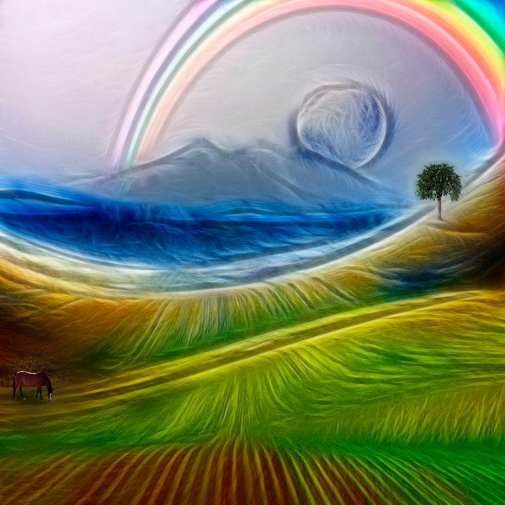 Painterly Peaceful Landscape - rolffimages