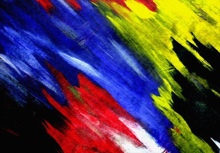 Colorful brush strokes - rolffimages