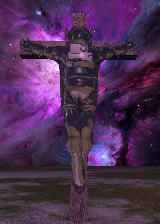 Crucified astronaut - rolffimages