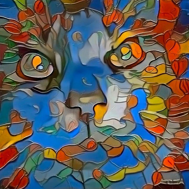 Abstract cat portrait - rolffimages