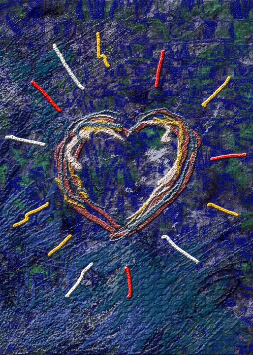 Painted heart - rolffimages