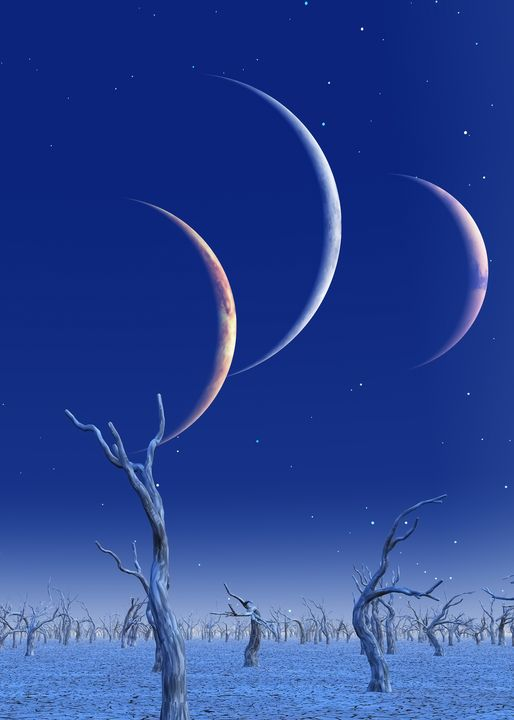 Three planets rise - rolffimages