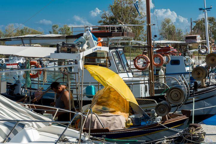 Fishing Boat. - Krzysztof Bozalek.