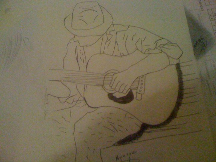 playing guitar - anasse's drawing