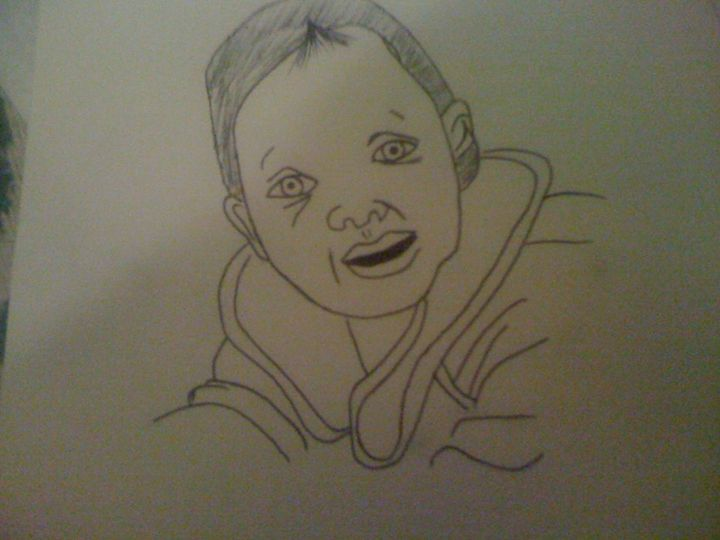 little kid - anasse's drawing