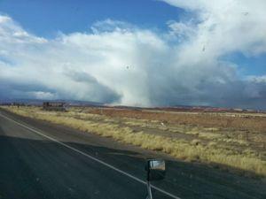 Snow tornado