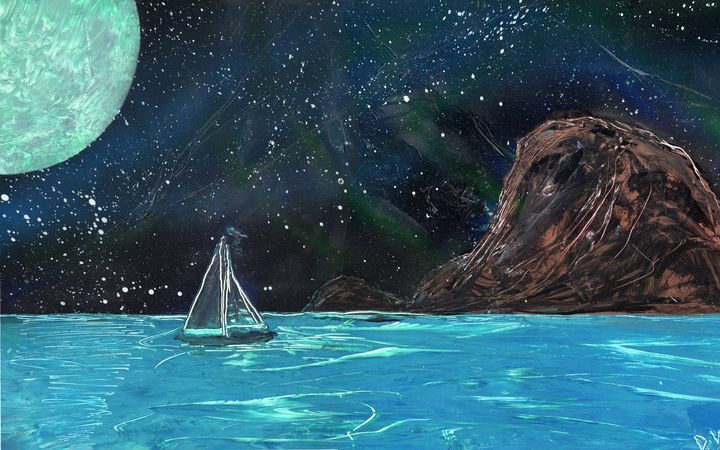 Night time sailing - David Wood