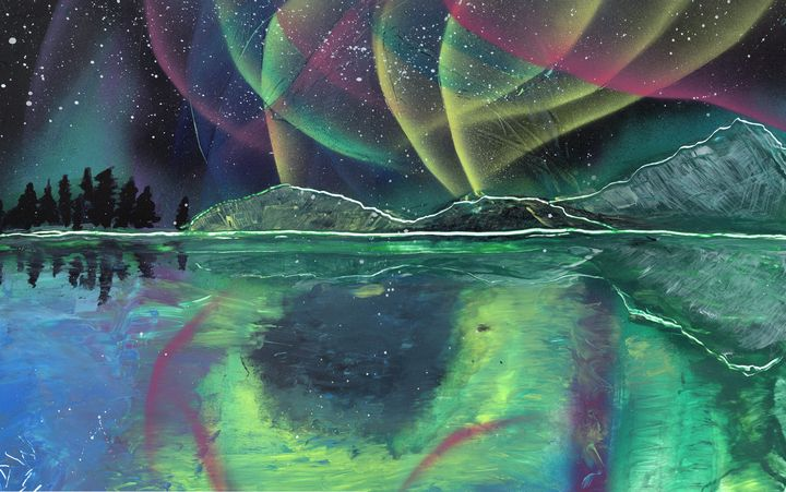 Northern Lights on a Lake - David Wood