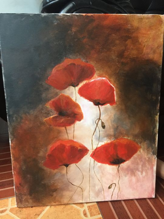 Red Poppies By Willem Haenraets - Spinner