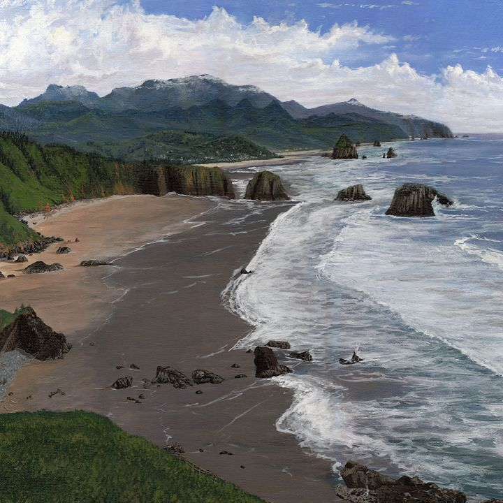 Canon Beach from Ecola State Park - Saco River Art & Photography