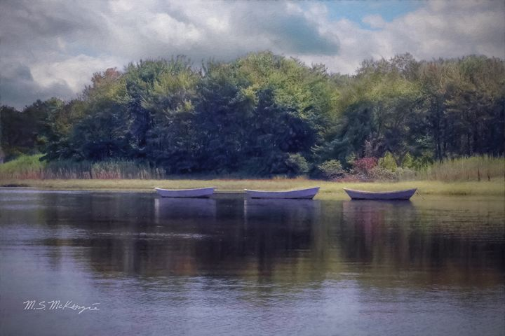 Three Dories on The Kennebunk - Saco River Art & Photography