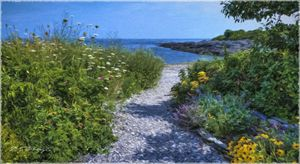 Seaside Wildflower Garden - Saco River Art & Photography