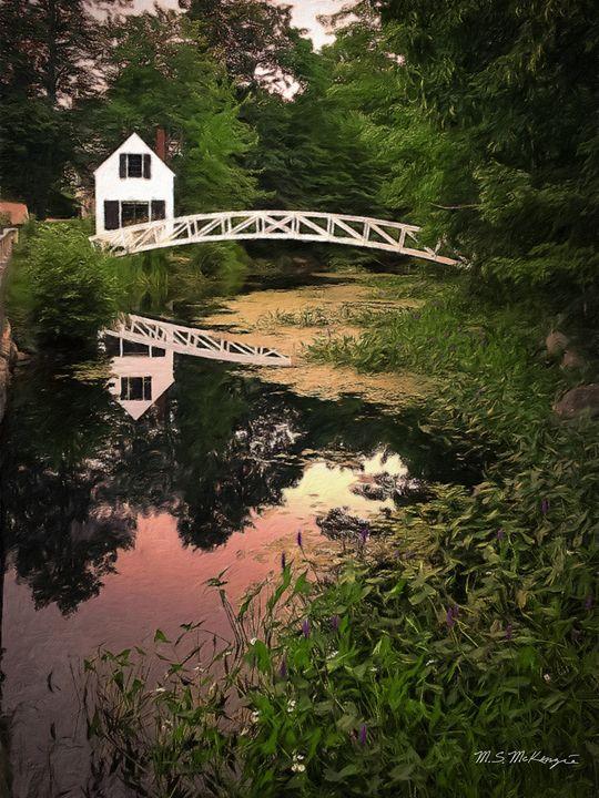Historic Somesville Walkbridge - Saco River Art & Photography
