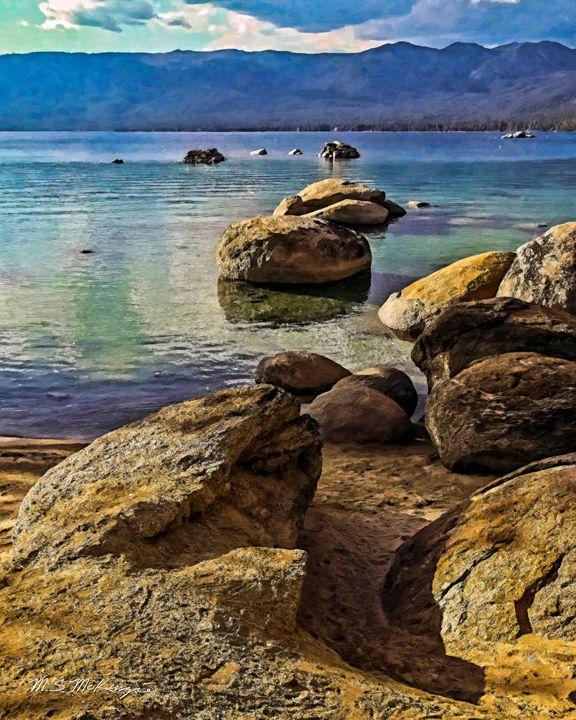 Boulder Strewn Beach II - Saco River Art & Photography