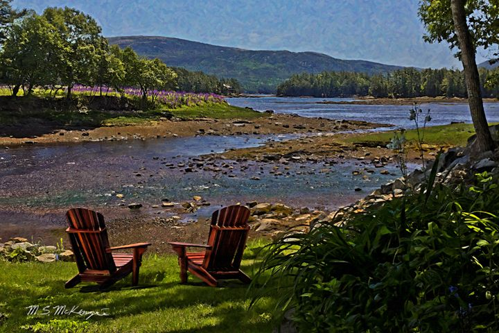 Lazy June Day in Somesville, Maine - Saco River Art & Photography