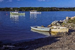 Between the Tides Belfast Harbor ME - Saco River Art & Photography