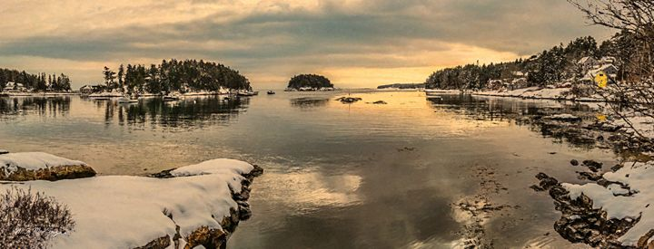 Five Islands in Winter Georgetown ME - Saco River Art & Photography
