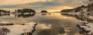Five Islands in Winter Georgetown ME