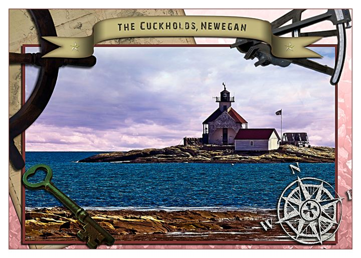 The Cuckholds Light, Newegan, Maine - Saco River Art & Photography