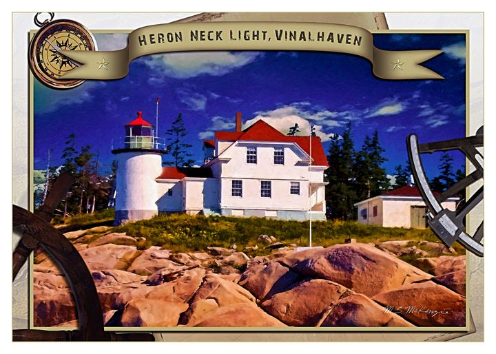 Heron Neck Light, Vinalhaven, ME - Saco River Art & Photography