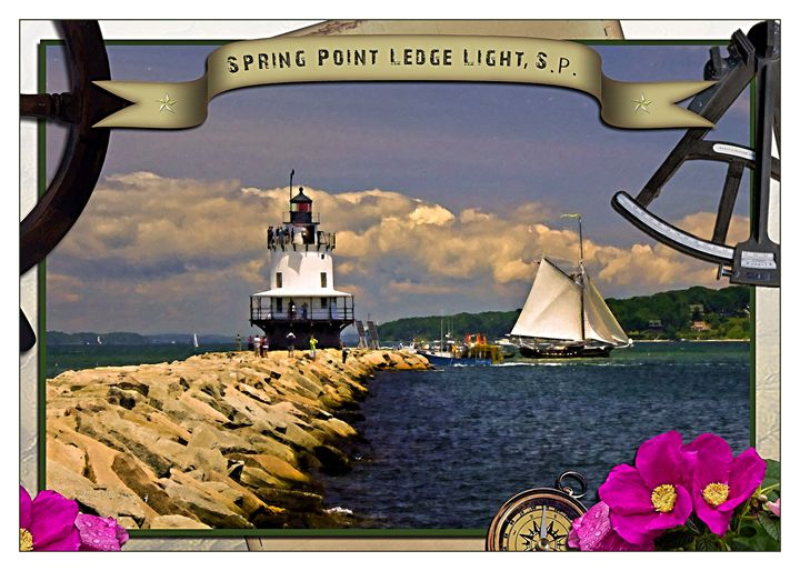 Spring Point Ledge Light Poster - Saco River Art & Photography