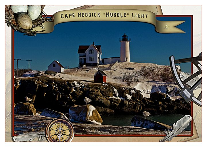 Cape Neddick Light Poster - Saco River Art & Photography