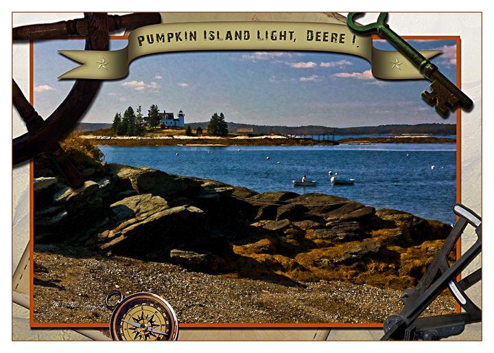 Pumpkin Island Light - Saco River Art & Photography