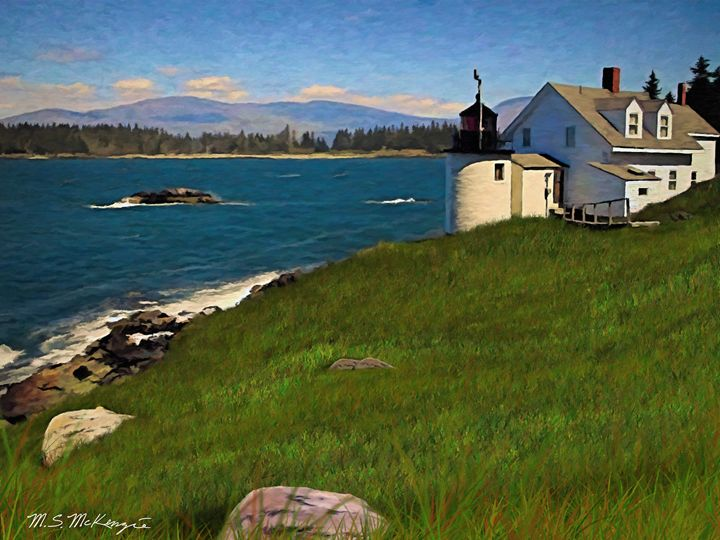 Camden Hills from Vinalhaven - Saco River Art & Photography