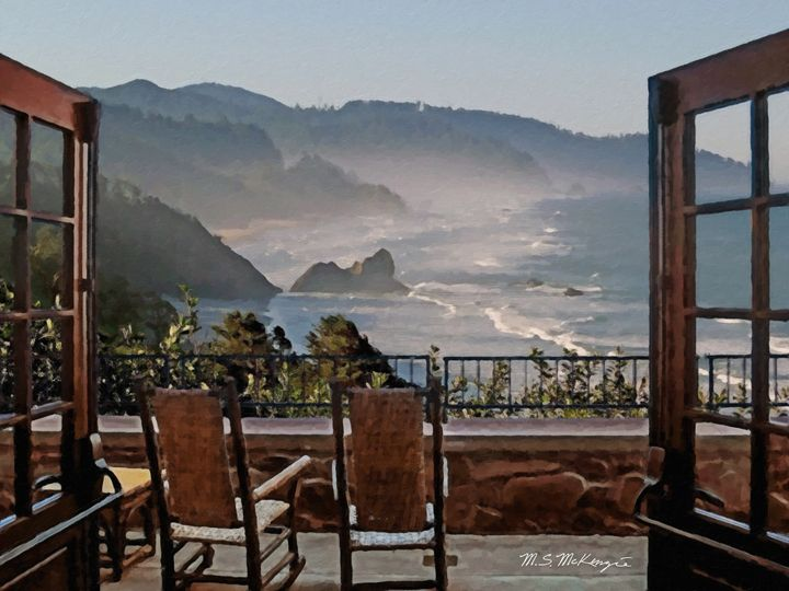 Million Dollar View Cape Perpetua - Saco River Art & Photography