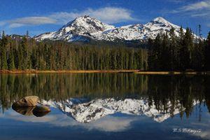 Scott Lake Reflections Oregon - Saco River Art & Photography