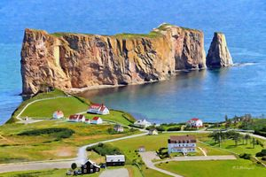 Perce Rock, Perce, Quebec, Canada