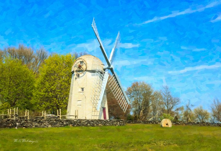 Historic Jamestown, R.I. Windmill - Saco River Art & Photography
