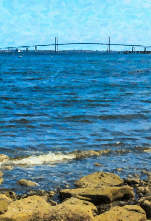 The Claiborne Pell Bridge, Newport - Saco River Art & Photography