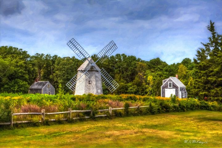 Old Higgins Farm Windmill - Saco River Art & Photography