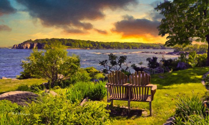 View of Whitehead from Peaks Island - Saco River Art & Photography