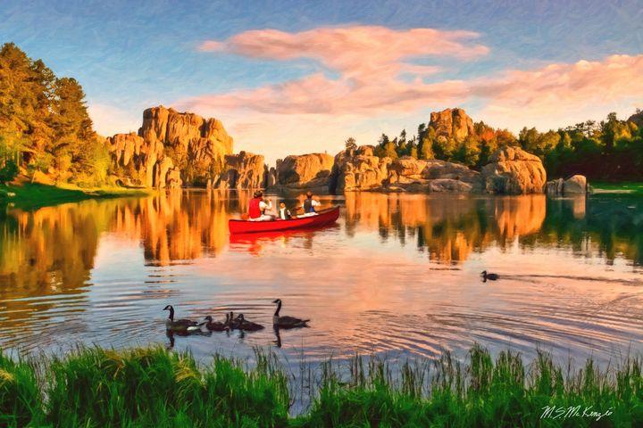 On Sylvan Lake, South Dakota - Saco River Art & Photography