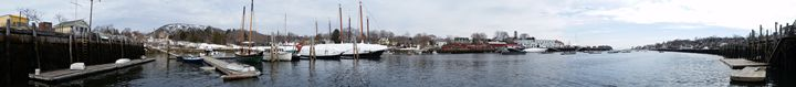 Camden Harbor Panorama - Saco River Art & Photography