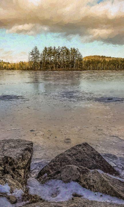 Frozen Over Bear Pond - Saco River Art & Photography