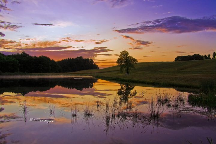 Sunrise Picnic Lyman Maine - Saco River Art & Photography